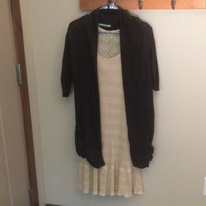 Maurices Short sleeve dress and sweater